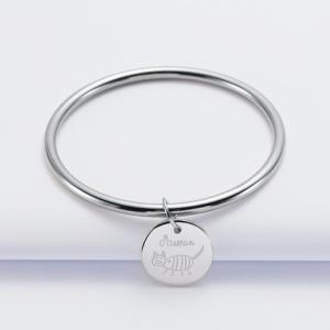 bracelet-jonc-personnalise-medaille-gravee-acier-20-mm